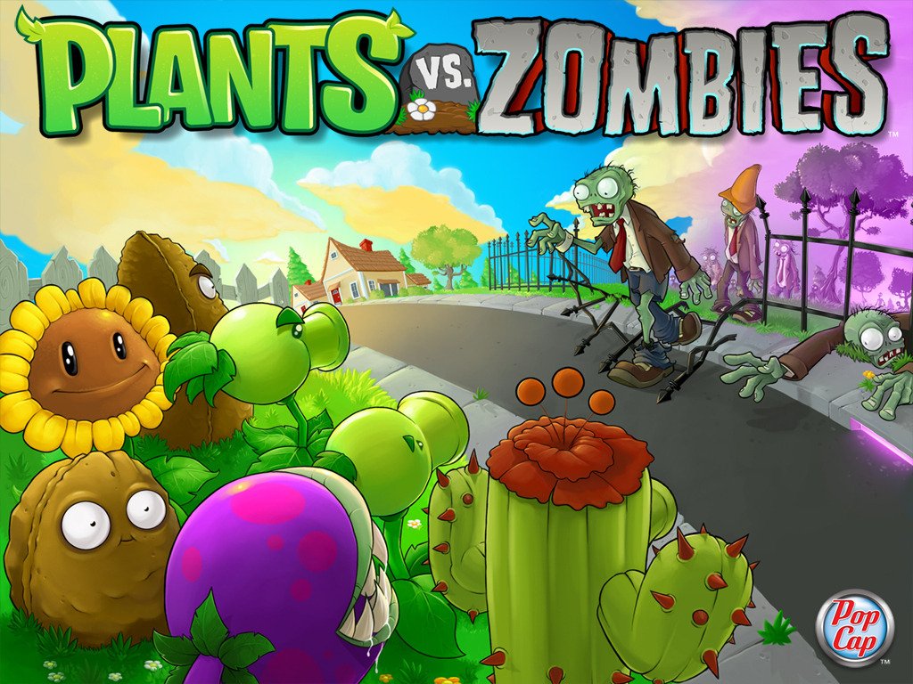Wallpaper plantes contre zombies écran pc standard