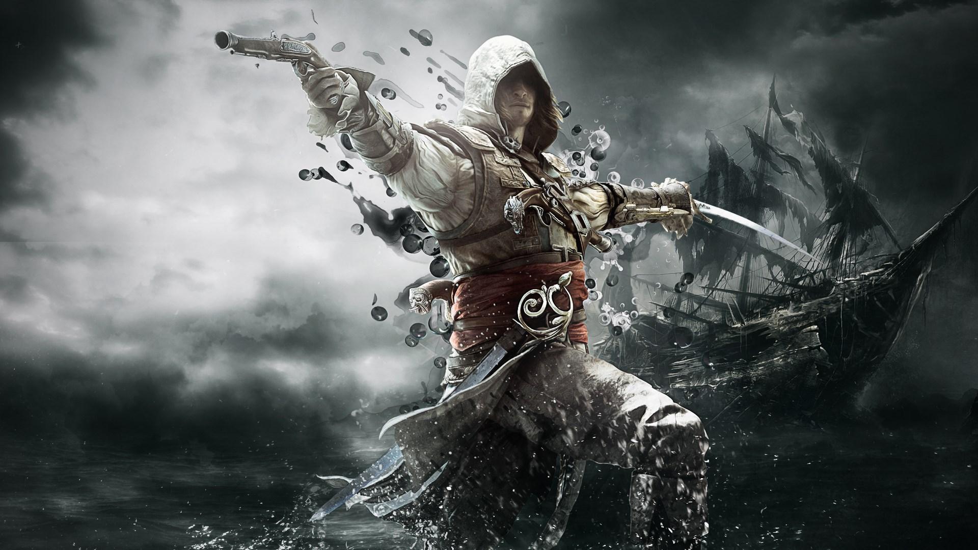 Fond d 39 cran du jeu assassin 39 s creed iv black flag for Fond ecran ps3