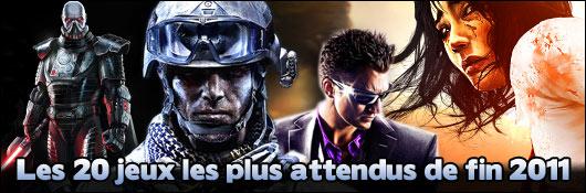 Les 20 jeux les plus attendus de fin 2011