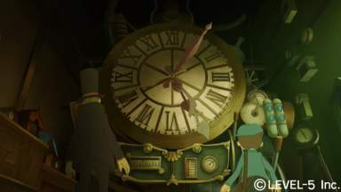 Le Professeur Layton légèrement en retard