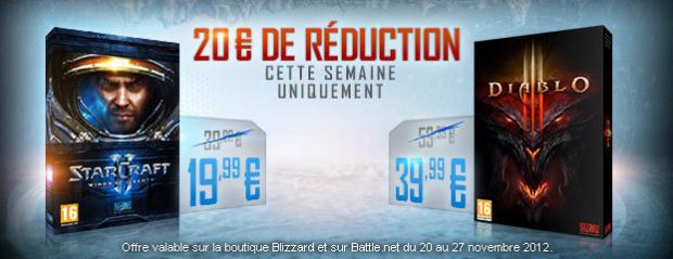 Diablo III et Starcraft II en promo sur Battle.net