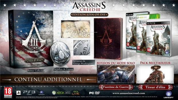 Assassin's Creed 3 PC volé au Benelux
