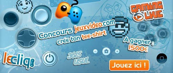 Votez pour le tee-shirt Jeuxvideo.com de la communauté !