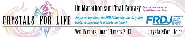 Crystals for Life : Un marathon Final Fantasy pour la bonne cause