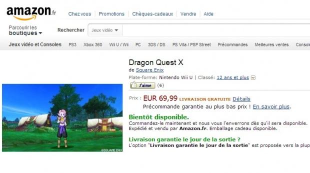 Dragon Quest 10 Wii U pour bientôt en Europe?