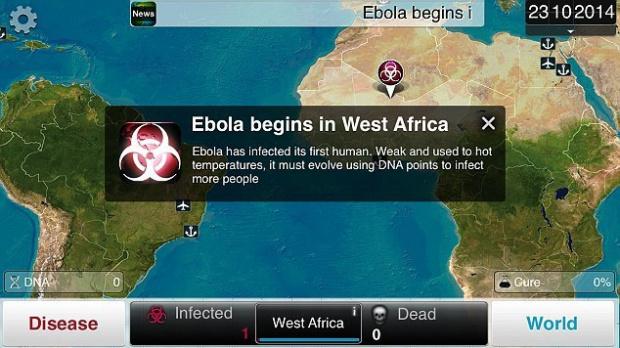 Ebola fait grimper les ventes de Plague Inc.