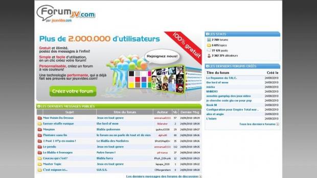 Créez votre forum perso sur forumjv.com