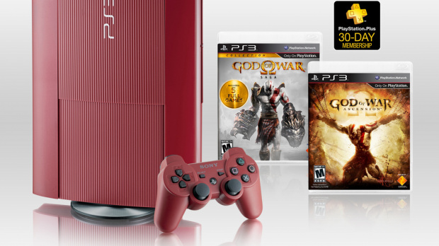 Une PlayStation 3 aux couleurs de God of War