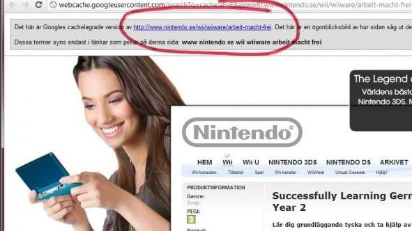 Dérapage sur le site de Nintendo Suède