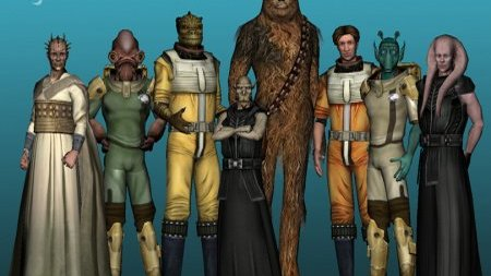 Star Wars Galaxies les 8 races