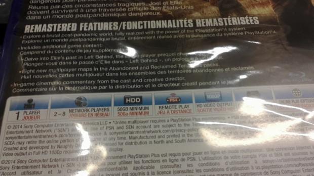 The Last of Us : Remastered nécessite 50 Go d'espace libre
