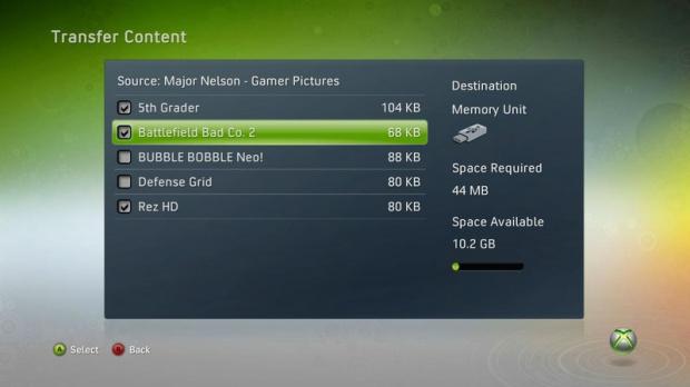 Le stockage USB confirmé sur Xbox 360
