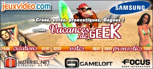 Résultats du concours de l'été - Vacances de geek