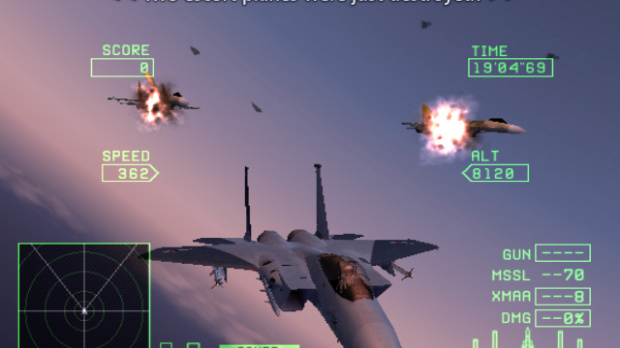 Images : Survol de Ace Combat Zero