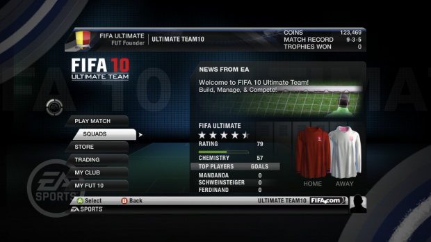 Electronic Arts annonce FIFA 10 : Ultimate Team