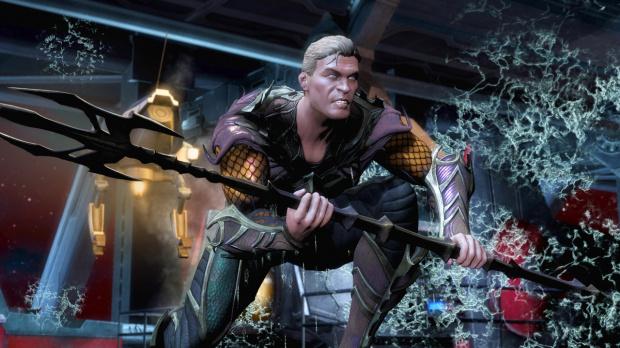 Aquaman fait des bulles dans Injustice