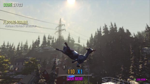 Du contenu en vue pour Goat Simulator