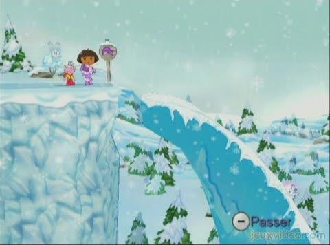 Vid os du jeu dora sauve la princesse des neiges - La princesse de neige ...