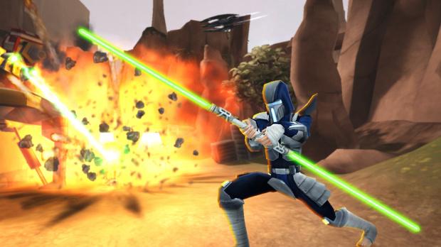 Star Wars : Clone Wars Adventures : Un double sabre laser offert