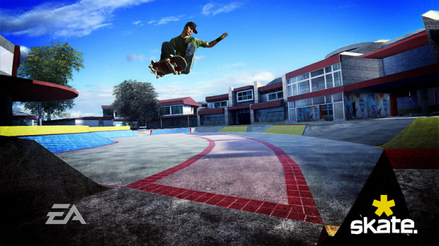 Skate planche sur sa bande-son