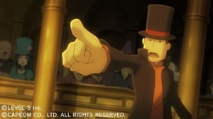 Professeur Layton et Ace Attorney fusionnent !