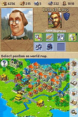 Images : Anno 1701 et la Nintendo DS