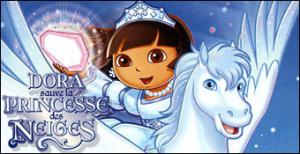 dora sauve la princesse des neiges sur ds