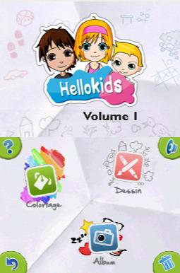 Hellokids - Vol.1 Coloriage et Peinture sur DS