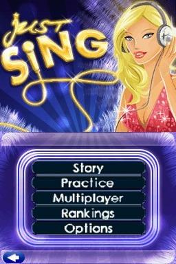 La tracklist de Just Sing ! sur DS