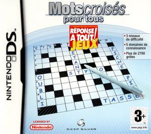 Mots Croisés pour Tous sur DS