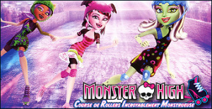 Jaquette de Monster High : Course de Rollers Incroyablement Monstrueuse sur DS