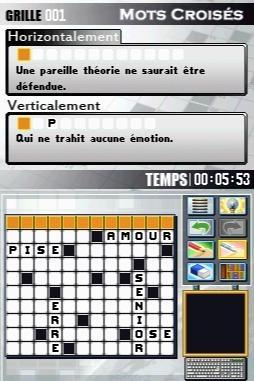 Encore des mots croisés sur DS