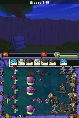 Plantes contre zombies sur nintendo ds for Plante zombie