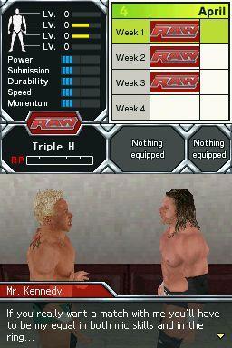 Le mode Saison de Smackdown 2009 DS