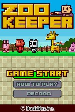 Zoo Keeper réfléchit sur Nintendo DS