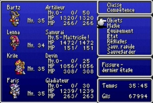 Final Fantasy V / Mon cristal pour un job !