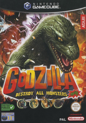 Godzilla : Destroy all Monsters Melee sur NGC