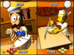 Un projet 2004 du DESS Jeux Vidéos et Médias Interactifs : Kitchen Frenzy