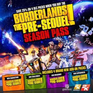 Borderlands The Pre-Sequel ! dévoile son season pass