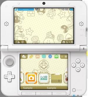 Nintendo 3DS, les thèmes de la mise à jour d'octobre