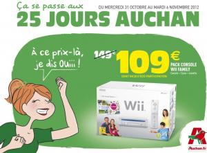 Auchan solde la Wii à 109 euros !