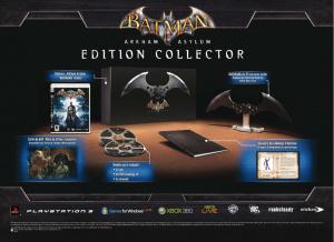 La version collector de Batman Arkham Asylum en Europe !