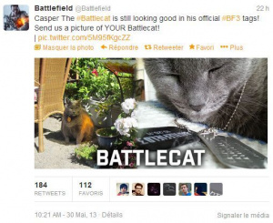 COD a son chien, Battlefield a son chat !