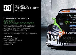 Un logo DIRT 3 sur la voiture de Ken Block