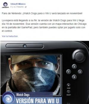 Watch Dogs fait fuiter sa date de sortie Wii U