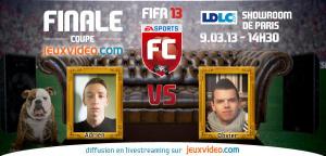 FIFA 13 : Ne ratez pas la finale de la Coupe Jeuxvideo.com !