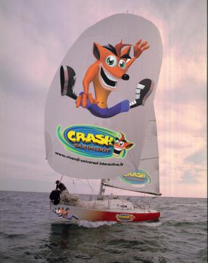 Bateau Crash Bandicoot : la photo