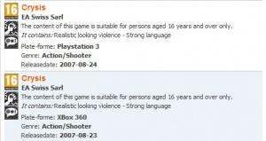 Crysis sur PS3 et 360 ? De plus en plus probable mais...