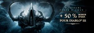 Diablo III : Bonus d'XP de 50%