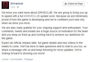 #DriveClub : Le plein d'infos à venir